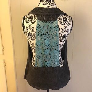 Anthro Knitted and Knotted Vest. Size S/M.